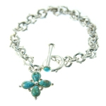 sterling silver bracelet with Turquoise stones