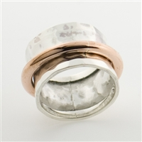 two-Tone sterling silver ring