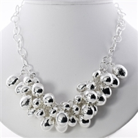 Silver overlay necklace